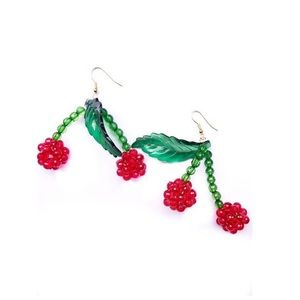 Susan Alexandra Lolita Cherry Beaded Earrings